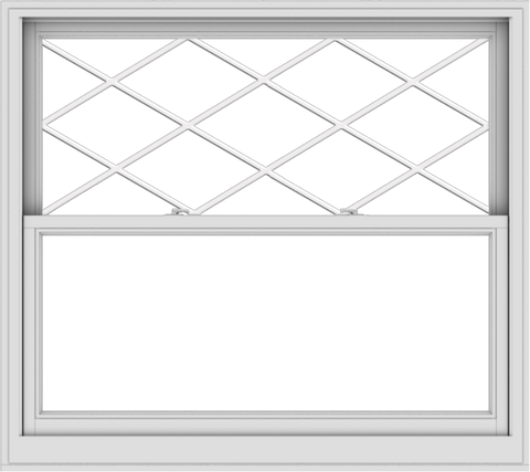 WDMA 54x48 (53.5 x 47.5 inch)  Aluminum Single Double Hung Window with Diamond Grids