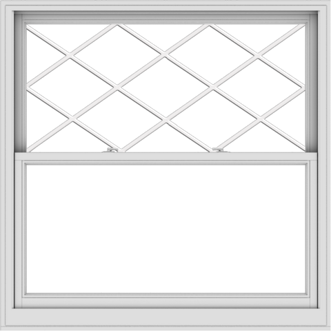 WDMA 54x54 (53.5 x 53.5 inch)  Aluminum Single Double Hung Window with Diamond Grids