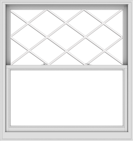 WDMA 54x57 (53.5 x 56.5 inch)  Aluminum Single Double Hung Window with Diamond Grids