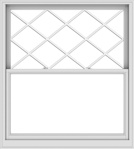 WDMA 54x60 (53.5 x 59.5 inch)  Aluminum Single Double Hung Window with Diamond Grids
