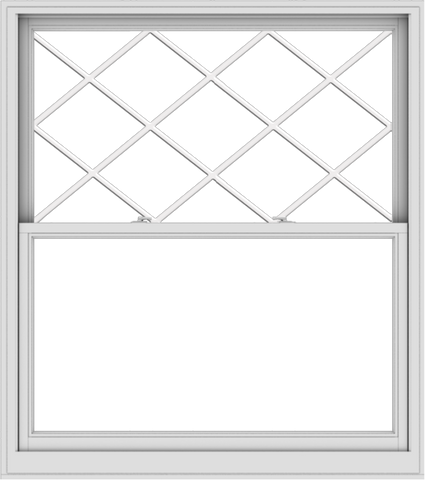 WDMA 54x61 (53.5 x 60.5 inch)  Aluminum Single Double Hung Window with Diamond Grids