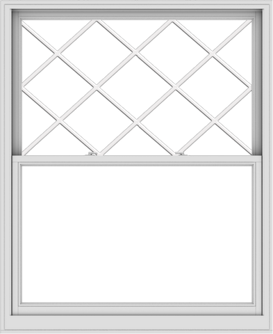 WDMA 54x66 (53.5 x 65.5 inch)  Aluminum Single Double Hung Window with Diamond Grids