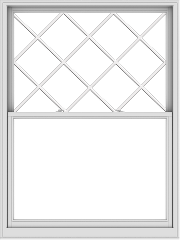 WDMA 54x72 (53.5 x 71.5 inch)  Aluminum Single Double Hung Window with Diamond Grids
