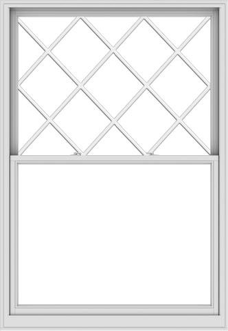 WDMA 54x78 (53.5 x 77.5 inch)  Aluminum Single Double Hung Window with Diamond Grids