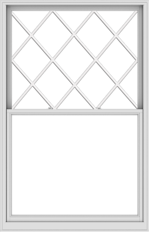 WDMA 54x84 (53.5 x 83.5 inch)  Aluminum Single Double Hung Window with Diamond Grids