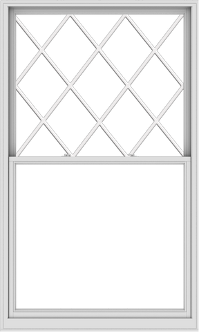 WDMA 54x90 (53.5 x 89.5 inch)  Aluminum Single Double Hung Window with Diamond Grids