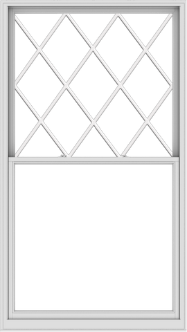 WDMA 54x96 (53.5 x 95.5 inch)  Aluminum Single Double Hung Window with Diamond Grids