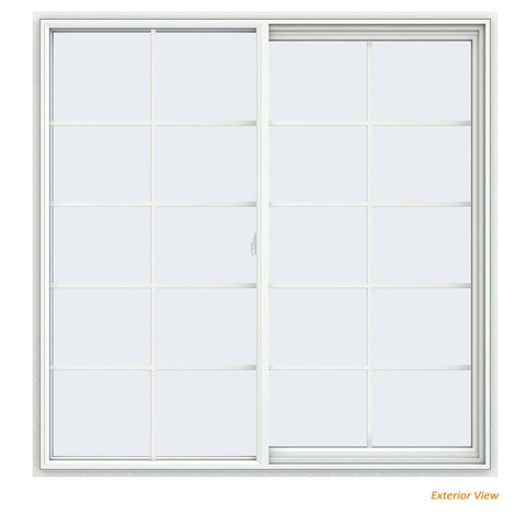 60x60 59.5x59.5 White Vinyl Sliding Window With Colonial Grids Grilles