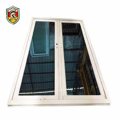5mm double tempered glass powder coated white aluminium frame casement industrial windows on China WDMA