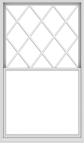 WDMA 60x102 (59.5 x 101.5 inch)  Aluminum Single Double Hung Window with Diamond Grids