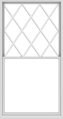 WDMA 60x114 (59.5 x 113.5 inch)  Aluminum Single Double Hung Window with Diamond Grids