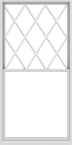 WDMA 60x120 (59.5 x 119.5 inch)  Aluminum Single Double Hung Window with Diamond Grids