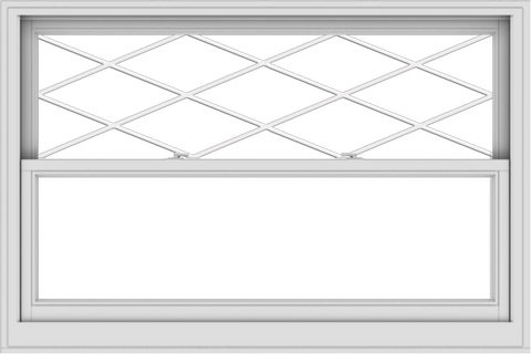 WDMA 60x40 (59.5 x 39.5 inch)  Aluminum Single Double Hung Window with Diamond Grids