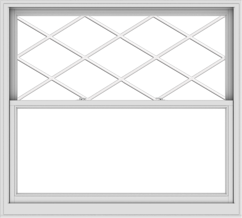 WDMA 60x54 (59.5 x 53.5 inch)  Aluminum Single Double Hung Window with Diamond Grids