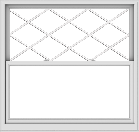 WDMA 60x57 (59.5 x 56.5 inch)  Aluminum Single Double Hung Window with Diamond Grids