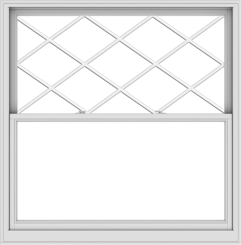 WDMA 60x61 (59.5 x 60.5 inch)  Aluminum Single Double Hung Window with Diamond Grids