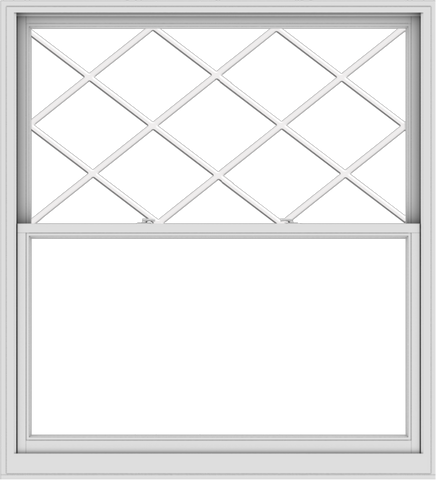 WDMA 60x66 (59.5 x 65.5 inch)  Aluminum Single Double Hung Window with Diamond Grids