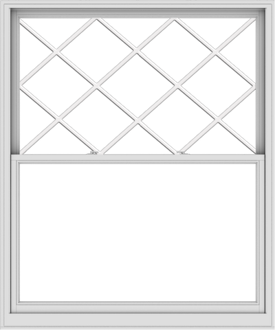 WDMA 60x72 (59.5 x 71.5 inch)  Aluminum Single Double Hung Window with Diamond Grids