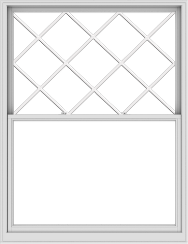 WDMA 60x78 (59.5 x 77.5 inch)  Aluminum Single Double Hung Window with Diamond Grids