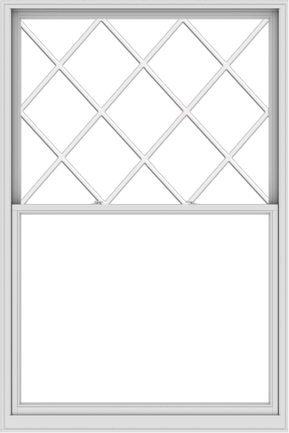 WDMA 60x90 (59.5 x 89.5 inch)  Aluminum Single Double Hung Window with Diamond Grids