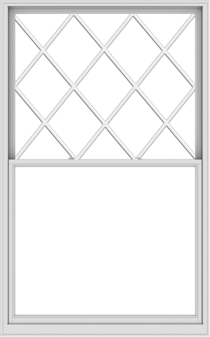 WDMA 60x96 (59.5 x 95.5 inch)  Aluminum Single Double Hung Window with Diamond Grids