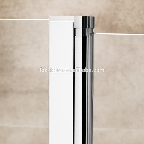 6MM Tempered Glass Cheap Price Double Pivot Bathtub Shower Door on China WDMA