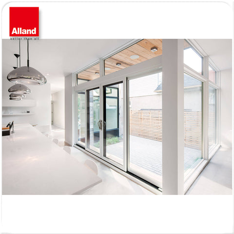 "72"" x 76"" White Aluminum Sliding Patio Door with double tempered glass on China WDMA"