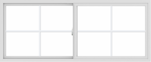 WDMA 72x30 (71.5 x 29.5 inch) Vinyl uPVC White Slide Window with Colonial Grids Exterior