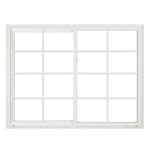 72x48 White Color Vinyl Pvc Sliding Window