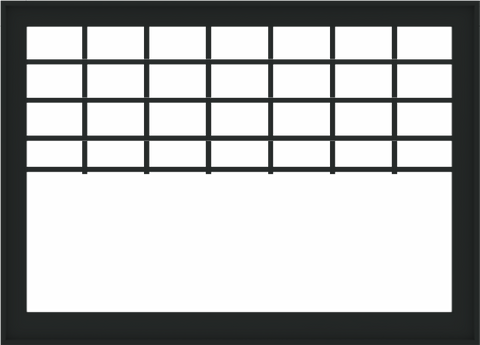 WDMA 72x52 (71.5 x 51.5 inch) Black Aluminum Picture Window