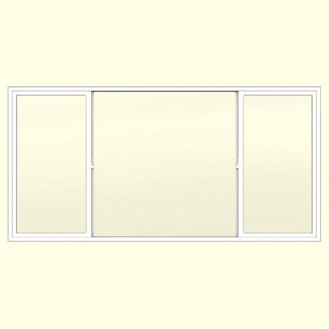 96x48 95.5x47.5 White Color Vinyl PVC Sliding Window With Fiberglass Mesh Screen