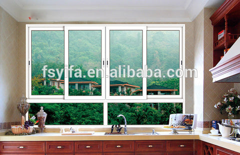 96x48 specification of slide reflected glass aluminum sliding windows for ghana on China WDMA