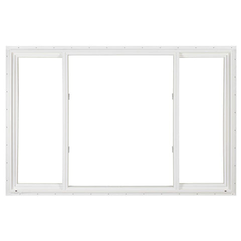 96x48 White Color Vinyl  Pvc Sliding Windows