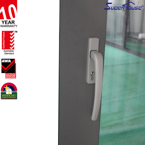 AS/NZ/USA standard unique waterproof aluminum glass bathroom doors front doors modern design office entry doors on China WDMA