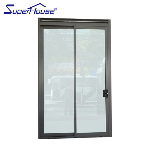 AS2047/AAMA/CSA Certified slim frame double glass aluminium exterior 3 tracks sliding stacker door on China WDMA