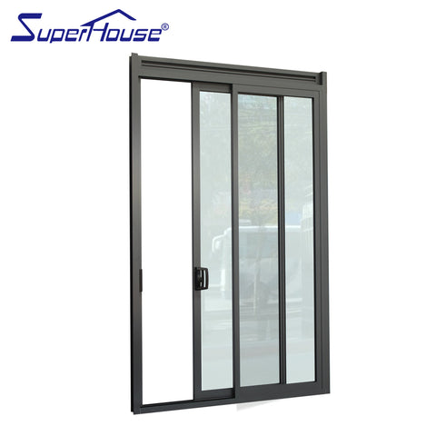 AS2047/AAMA/CSA Standard hot sale new design entrance aluminium sliding Glass door with double glass on China WDMA