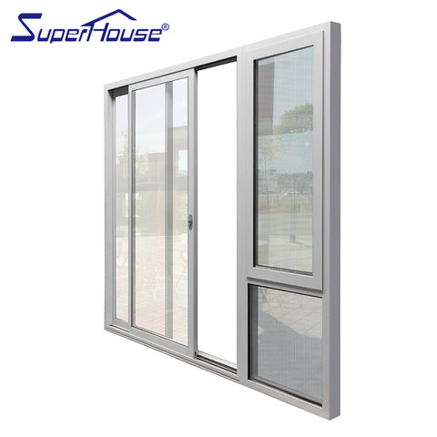 AS2047/AAMA/CSA Standard hot sale new design aluminium Patio sliding Glass door with double glass on China WDMA