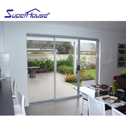 AS2047&American Florida approval thermal break double glass balcony exterior sliding glass door on China WDMA
