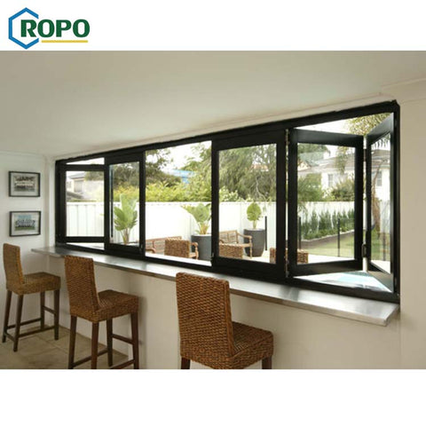 AS2047 Cheap Aluminum Bifold Folding Glass Windows,Aluminum Folding Window With Thermal Break on China WDMA