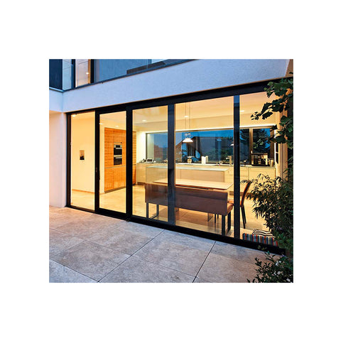 AS2047 & Florida approval thermal break double glass balcony exterior sliding glass door made in China on China WDMA