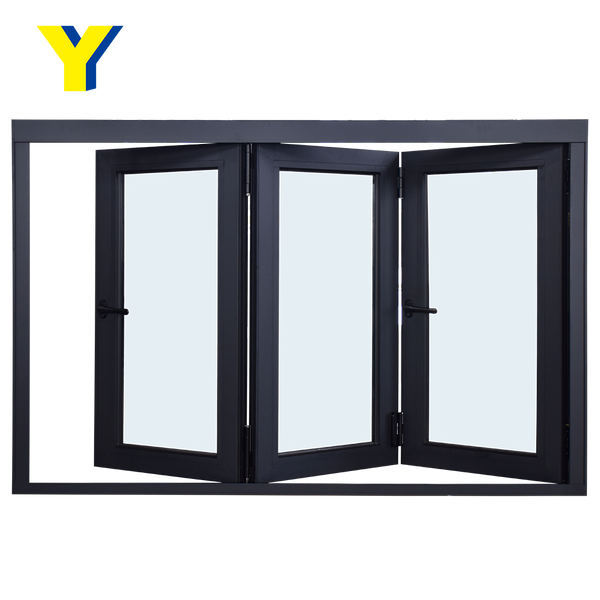 AS2047 Standard aluminium alloy energy saving double glass window aluminium bifolding windows door on China WDMA