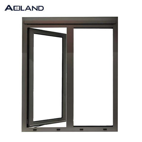 AS2047 aluminium metal structural frame double glazed casement windows design customized size and color on China WDMA