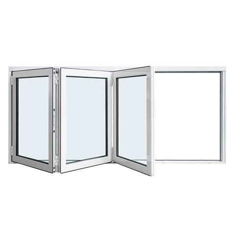 AS2047 standard China company 3 panel alum aluminum horizontal bifold folding window on China WDMA