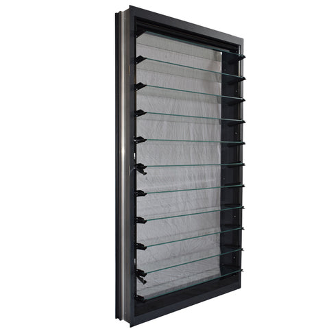AS2047 standard custom sale modern aluminium frame durable glass louvre windows on China WDMA