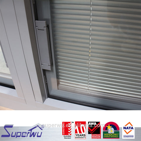 AU & NZ standard double glazed aluminium windows aluminum alloy removable window with built in blind on China WDMA