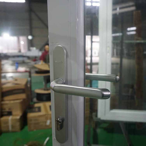 AWA French Aluminum Glass Swing Door Design With Blind Inside on China WDMA