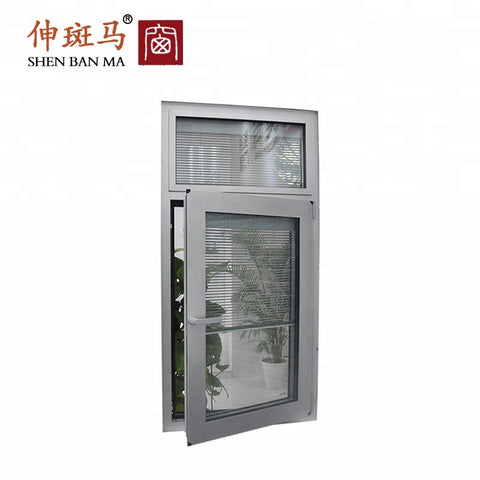 Adjustable Glass Horizontal Louver Window Aluminium Louvre Window on China WDMA