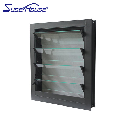 Adjustable louver window tempered glass louver windows with mosquito screen on China WDMA
