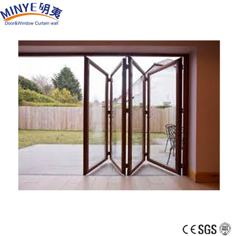 Alibaba china manufacture french double seal-ing aluminium folding patio door on China WDMA