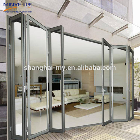 Alibaba china manufacture french double seal-ing aluminium folding patio doors prices on China WDMA